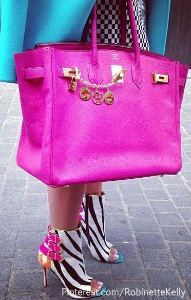 Color Pop..Bright Bag..Christian Louboutin Booties