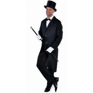 Costume queue de pie noire deluxe homme, costume déguisement adulte pour cabaret, fêtes et spectacle. http://www.baiskadreams.com/1195-deguisement-queue-de-pie-deluxe-noire-homme.html