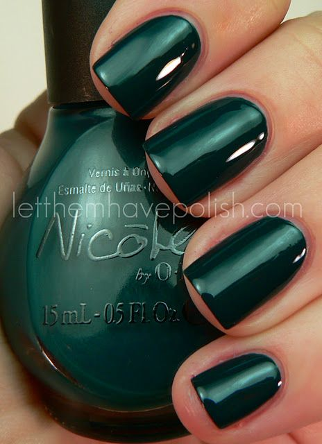Nicole by OPI Khloe Had a Little Lam-Lam (peacock teal creme)Emeralds Nails, Nails Art, Emerald Green, Nail Polish, Nails Colors, Polish Nails, Emeralds Green, Nails Polish, Green Nails