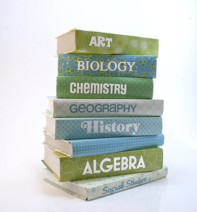 how to make a paper bag textbook cover