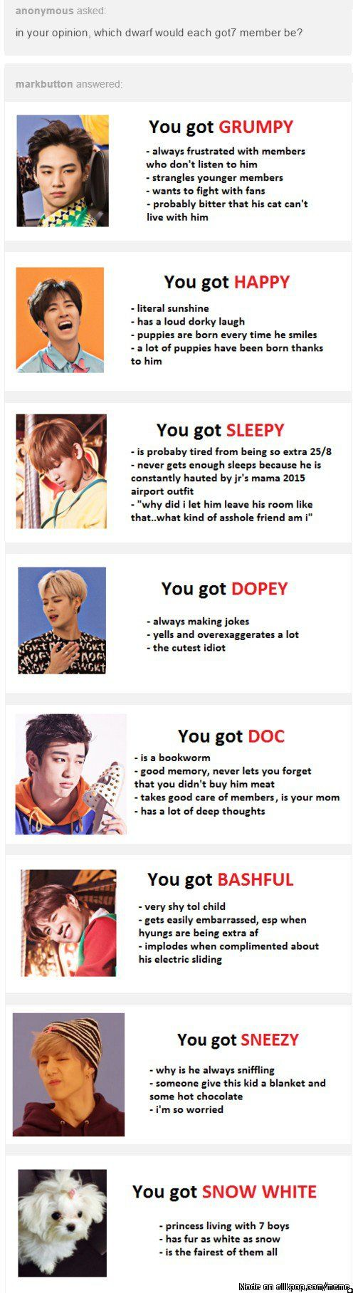 Snow White has GOT7 Dwarfs | allkpop Meme Center