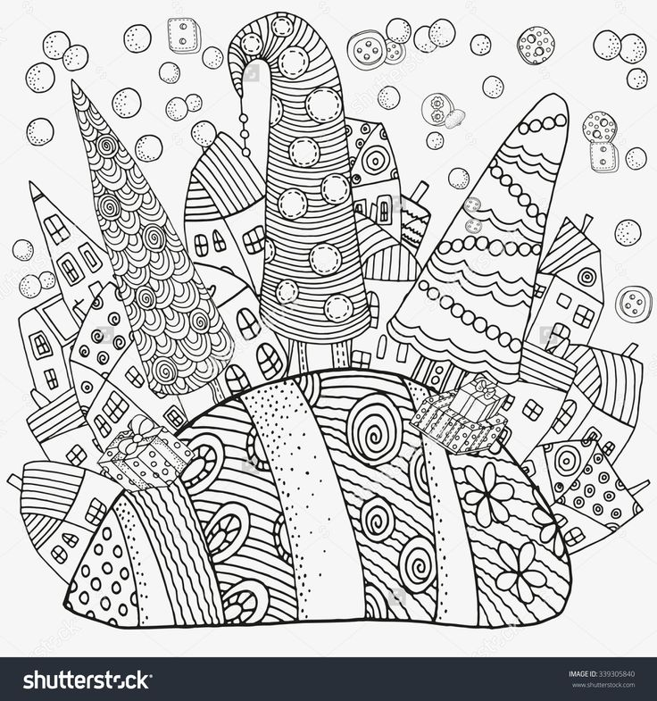 Swiss Village Coloring Pages