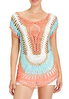 Multi Collar Crochet Tunic - the link no longer works to a seller, but interesting style.
