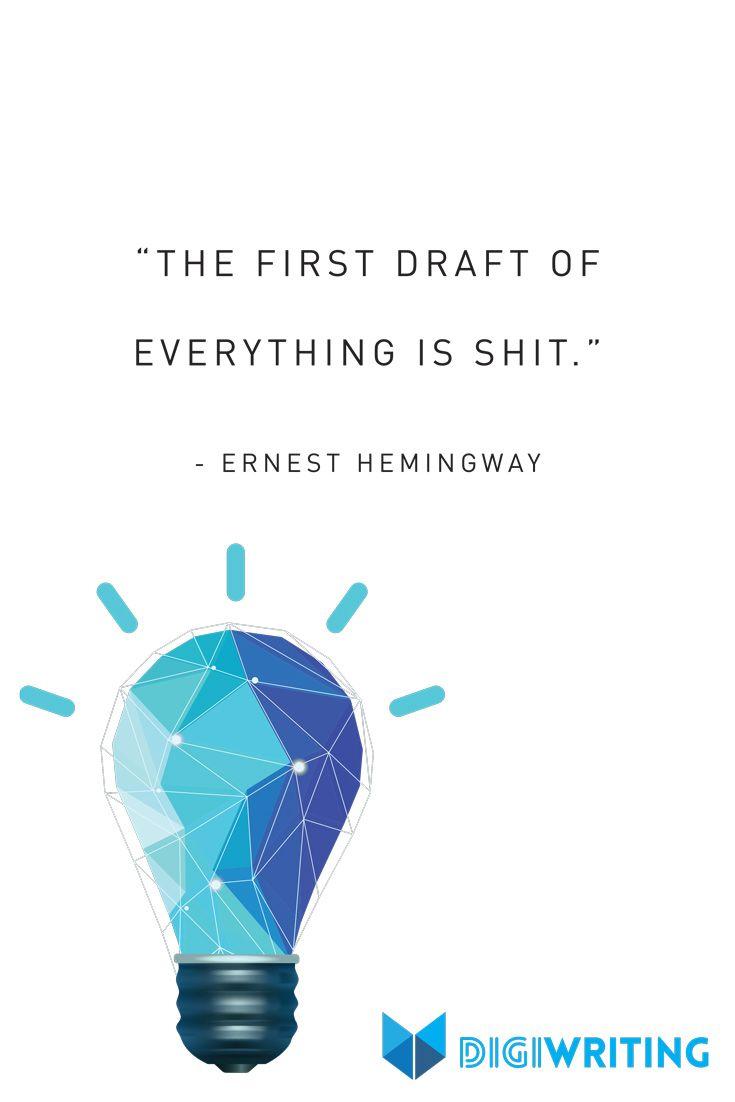 Yep. Hemingway had his way with words.