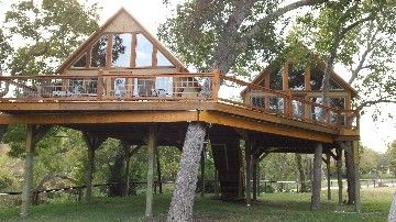 New Braunfels cabin rental - 2 of the 4 cabins at Geronimo Creek Retreat.