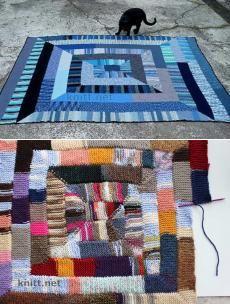 Плед-одеяло из 10 петель. Интересный и практичный метод вязания одеяла или пледа. Такая техника позволяет связать одеяло из остатков пряжи, что сделает его еще интереснее.