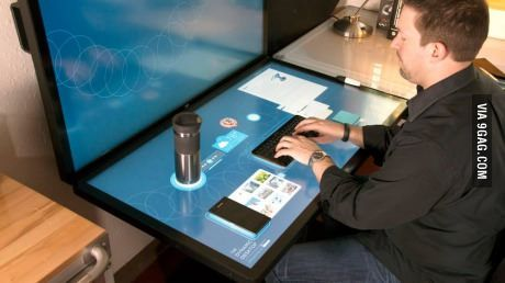 Multi-touch hardware and software company Ideum is developing the Dynamic Desk Cant wait untill i can get my hands on this!