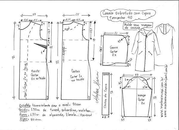 Простая выкройка пальто (Шитье и крой) | Журнал Вдохновение Рукодельницы