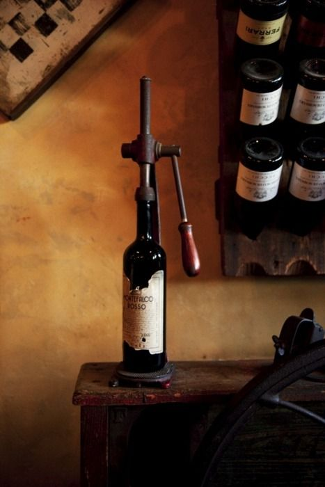 It would be nice to find some old antique wine accessories to display around the wine tasting room!