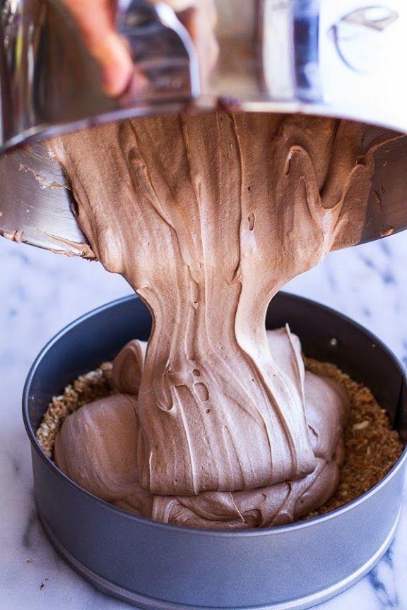 No-Bake French Silk #Pie recipe with Pretzel-Honey Crust