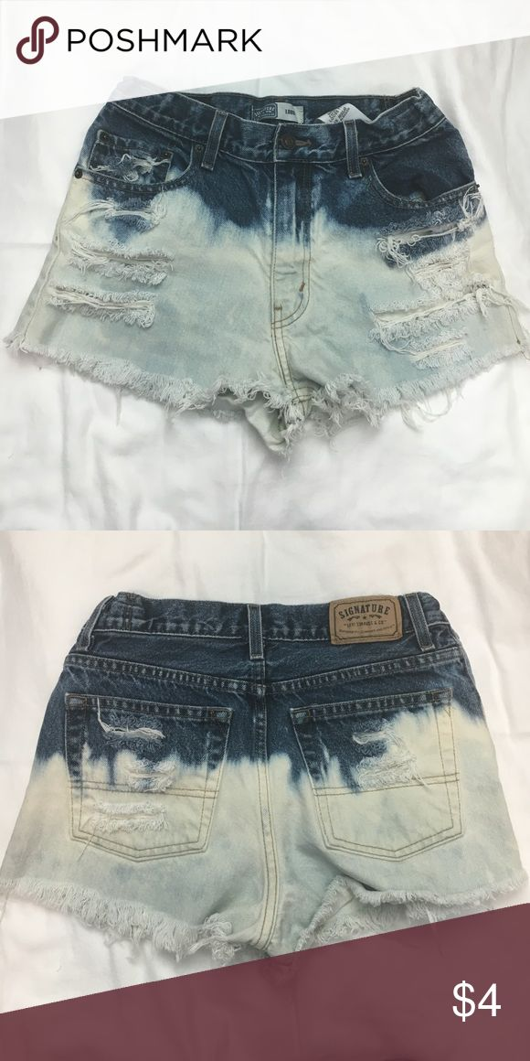 Levi Cut Off Shorts high waisted shorts by levi. wish i could wear these but the button has detached from the pants. it can be sewn back on which is why the shorts are listed so cheap. hoping someone who knows how to sew can save these cute shorts! size 2 Levi's Shorts Jean Shorts