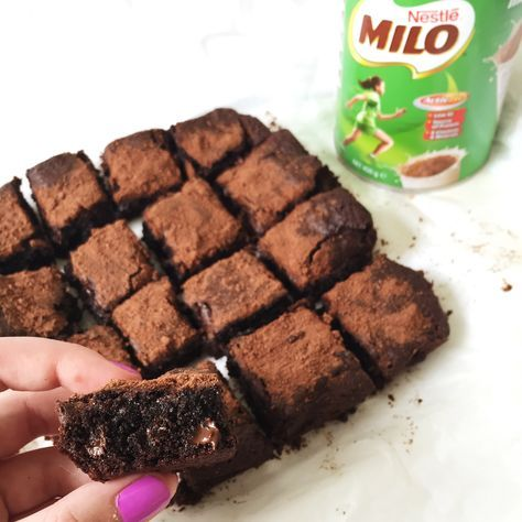 I love brownies; who doesn't? But Milo… It was one of my very first loves. It was also one of the very first things I ate straight out of the tin with a spoon