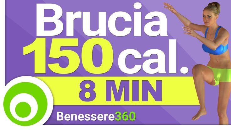 Allenamento Aerobico di 8 Minuti per Bruciare 150 Calorie in 8 Minuti e ...