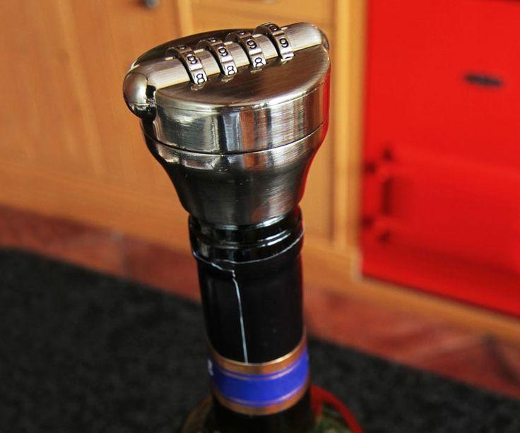 Wine Bottle Combination Lock http://www.thisiswhyimbroke.com/wine-bottle-combination-lock