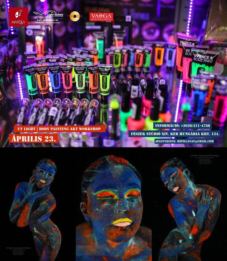 UV light Body Painting Akt Workshop   Jelentkez!!! http://mipillanat.hu/uv-workshop/iii-uv-workshop  #VARGA #uv #uvlight #workshop #fotozas #paint #testfestés #nude #akt #neon #comingsoon #color #blacklight #creative #weekend #neonpaint #insta #instagram #instaphoto #girl #girls #face #fluor #neonlights #mipillanat #ultraviolet #sexy #uvmakeup #portrait #portré #arc #face #BodyPaintMagazine #Art #BodyArt #BodyPaint #Model #Photography #Photo #Artist #eBook #PinBook #glow #maszka…