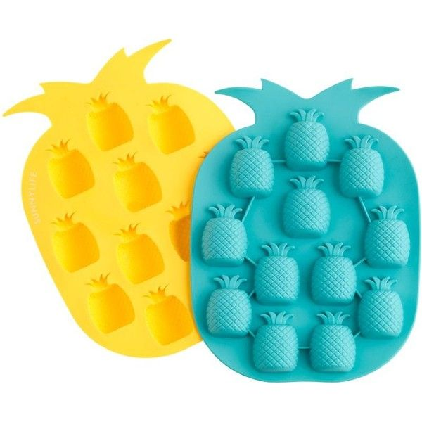 J.Crew Sunnylife pineapple ice tray found on Polyvore