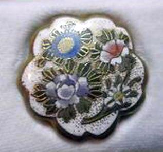 Satsuma Lotus Shape Button