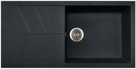 JAZZ Hansloren zlewozmywak 1-komorowy z ociekaczem 500x1000x220 mm czarny metalik - JACO-1WMD  http://www.hansloren.pl/Zlewozmywaki-granitowe/Zlewozmywaki-1-komorowe/HANSLOREN
