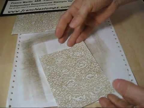 wax paper in embossing folders. makes any of your embossing folders like background images