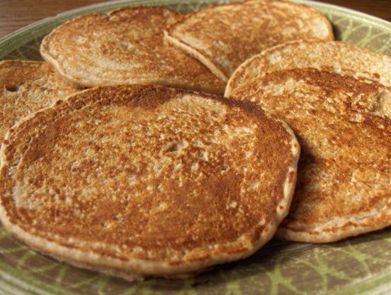 Oat Pancakes - wheat free! Use rice milk and 2 egg whites (serves 3).