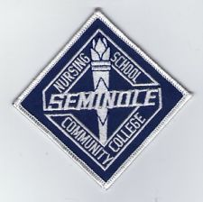 Embroidered Patch EMT Seminole Community College Nursing School