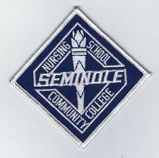 Embroidered Patch EMT Seminole Community College Nursing School