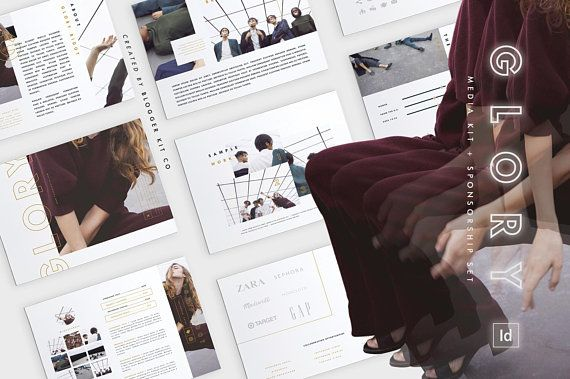32 best media  press kit templates images on pinterest