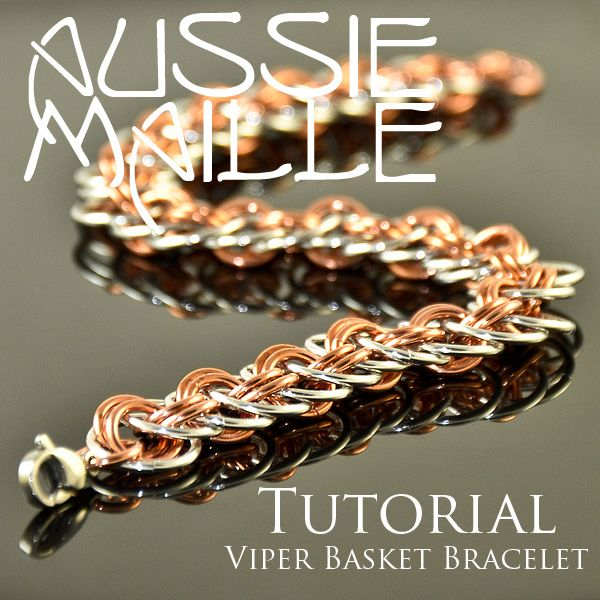 Viper Basket Tutorial: Chainmail Jewelry, Bracelets Tutorials, Chainmaille Tutorials, Baskets Bracelets, Chainmail Jewelery, Chainmail Tutorials, Viper Baskets, Baskets Tutorials, Maill Chains
