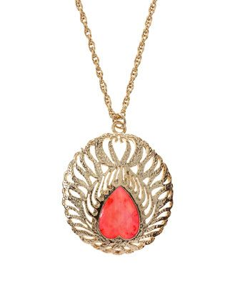 Cecelia Pink Agate Necklace - Last Call by Neiman Marcus