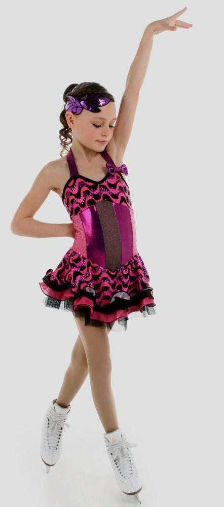 NEW COMPETITION SKATING DRESS Elite Xpression1553 MADE ORDER 3 WEEKS FABRICATION