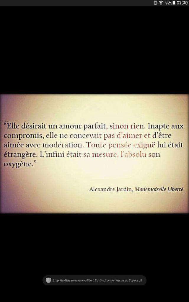 Inspirational Quote: L'amour irréel imaginaire bref l'Arlésienne.