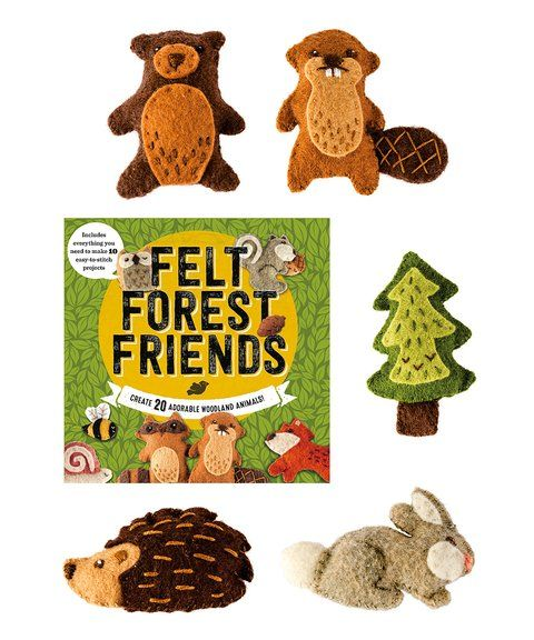 create your own diy masterpiece with this felting kit including everything needed to make 10 adorable projects to fill your own forest