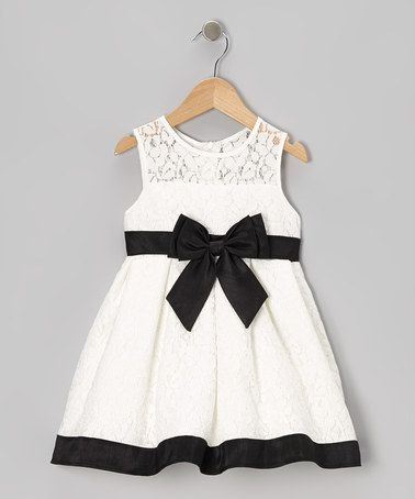 Take a look at this Black & White Bow Dress - Infant by Sweet Heart Rose on #zulily today!