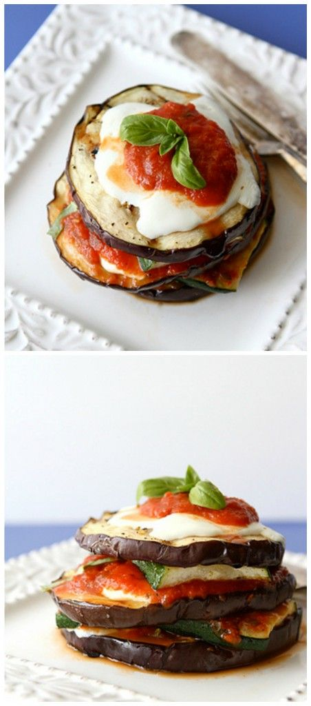 Grilled Zucchini and Eggplant Parmesan Recipe Vegetarian...216 calories and 6 Weight Watchers PP   cookincanuck.com #vegetarian #recipes #healthy #veggie #recipe
