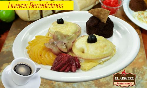 Huevos Benedictinos – Restaurante El Arriero El Salvador