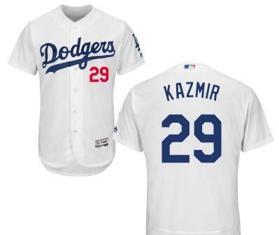 Los Angeles Dodgers #29 Scott Kazmir White Home Stitched Baseball Jersey