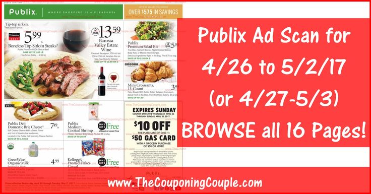 Anybody want to BROWSE the actual upcoming Publix Ad Scan? Here is the PUBLIX AD SCAN FOR 4-26 to 5-2-17 (4/27-5/3) ~ ALL 16 PAGES Click the Picture below to BROWSE the Publix Ad Scan ► http://www.thecouponingcouple.com/publix-ad-scan-for-4-26-to-5-2-17/  #Coupons #Couponing #CouponCommunity  Visit us at http://www.thecouponingcouple.com for more great posts!