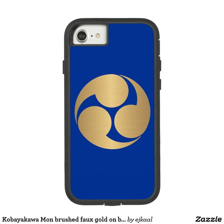 Kobayakawa Mon brushed faux gold on blue