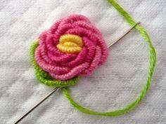 Bullion Rose Tutorial ༺✿Teresa Restegui http://www.pinterest.com/teretegui/✿༻