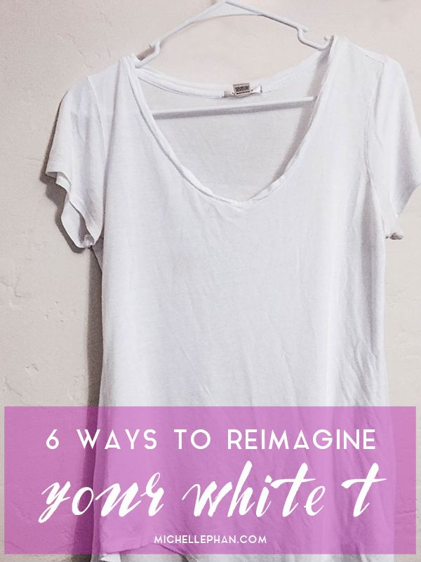 6 ways to reimagine your white t-shirt