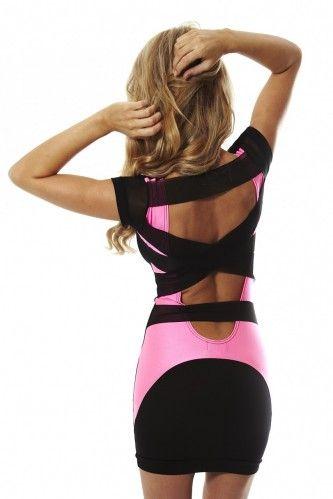 wowza: Club Dresses, Bachelorette Parties, Back Dresses, Vegas Dresses, Dreams Closet, Clothing, Hot Dresses, The Dresses, Pink Black
