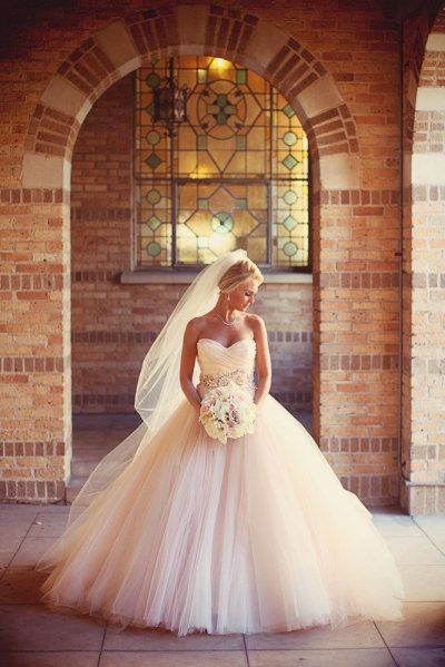 Colorful Ball Gown Wedding Dress.