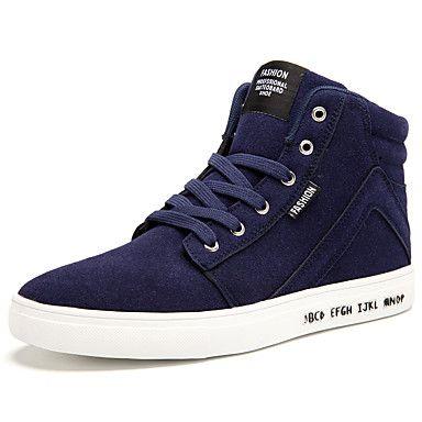 Hombre-Tacón Plano-Confort-Zapatillas de deporte-Informal Deporte-Ante-Negro Azul Rojo 5216588 2017 – $91.472