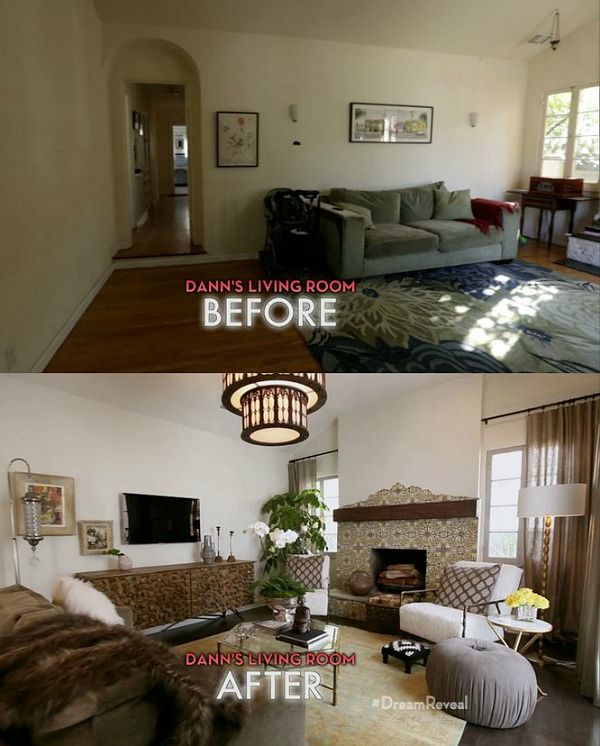 Spanish Bungalow Makeovers On American Dream Builders Living Room