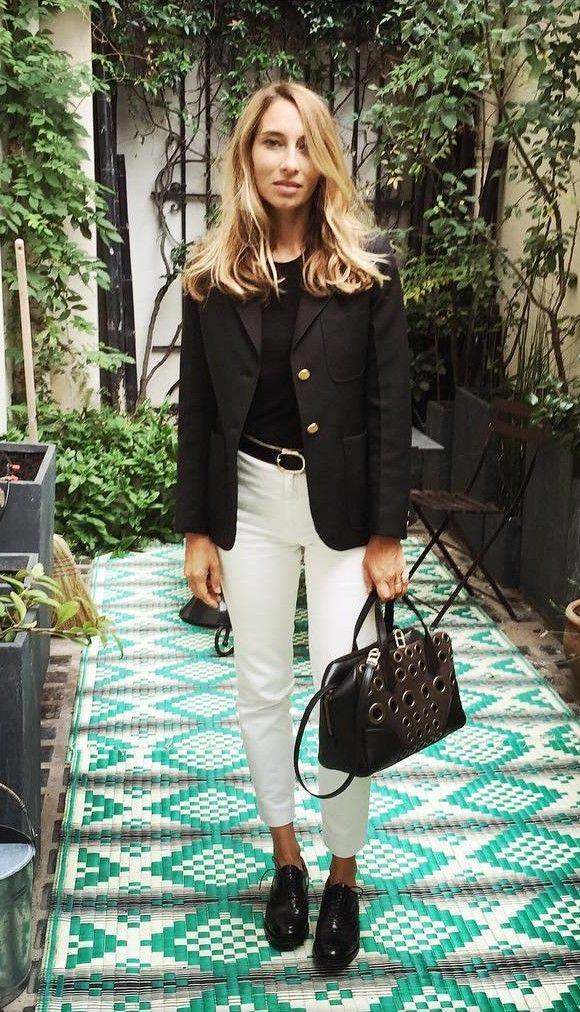 Le look chic parisien de l'animatrice Alexandra Golovanoff à copier ! #parisienne #look #outfit #ootd