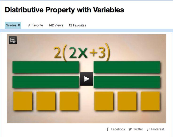1-4 Distributive property video with algebra tiles