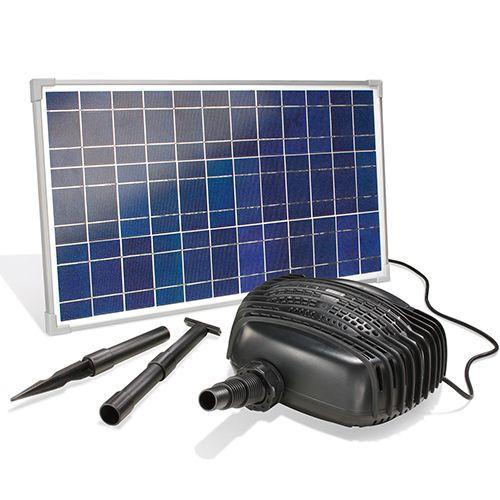 Solar-Teichpumpenset Bachlaufpumpensystem 25 W, 2480 l/Std. - Solar-Pumpen Solar-Artikel - Beckmann KG - Ihr Spezialist für Gewächshaus und Gartenartikel