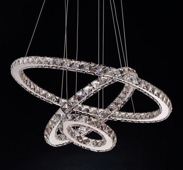 Circular Crystal Led Chandelier Crystal Chandelier Lighting Led