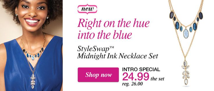 Style Swap Midnight ink necklace set