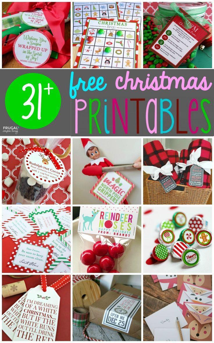 31+ Free Christmas Printables | !Pinned Over 5,000 Times ...